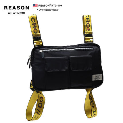 Unisex Nylon Street Style 2WAY Plain Bags