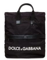 Dolce & Gabbana Unisex Nylon Street Style A4 Plain Backpacks