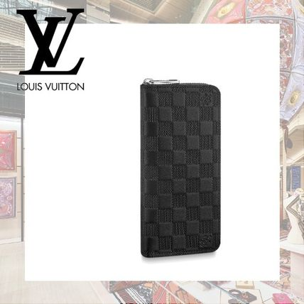new product da0ea f237c Louis Vuitton DAMIER INFINI Other Check Patterns Leather Long Wallets  (N63548)