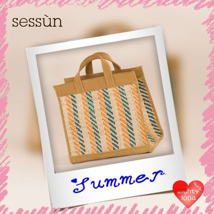 Other Check Patterns Casual Style Totes