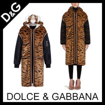 Dolce & Gabbana Faux Fur Plain Other Animal Patterns Long Elegant Style