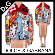 Dolce & Gabbana Star Denim Medium Elegant Style Coats
