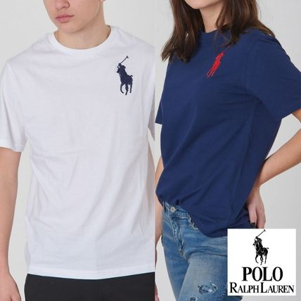 Crew Neck Unisex Plain Short Sleeves Crew Neck T-Shirts