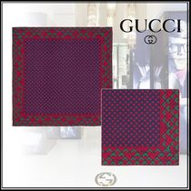 GUCCI Monogram Silk Handkerchief