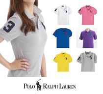 POLO RALPH LAUREN Unisex Plain Short Sleeves Polo Shirts