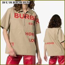 Burberry Street Style Cotton Medium Short Sleeves T-Shirts