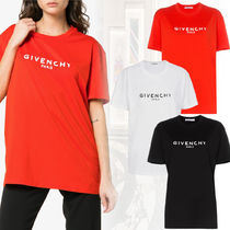 GIVENCHY Crew Neck Unisex Cotton Long Short Sleeves T-Shirts