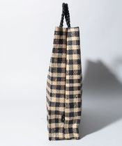 Agnes b Other Plaid Patterns Casual Style Unisex A4 Logo Totes