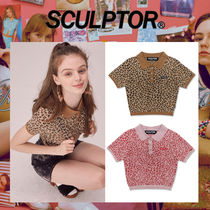 SCULPTOR Leopard Patterns Street Style Polo Shirts