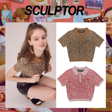 Leopard Patterns Street Style Polo Shirts