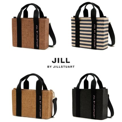 Stripes Casual Style Street Style 2WAY Totes