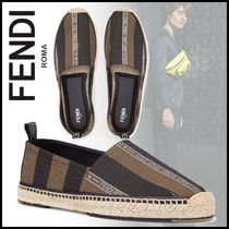 FENDI Stripes Street Style Loafers & Slip-ons