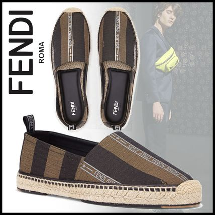FENDI Loafers & Slip-ons Stripes Street Style Loafers & Slip-ons