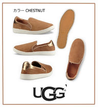 UGG Australia Plain Toe Casual Style Collaboration Bi-color Plain Leather