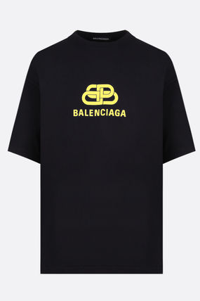 BALENCIAGA Crew Neck Crew Neck Cotton Short Sleeves Crew Neck T-Shirts 2