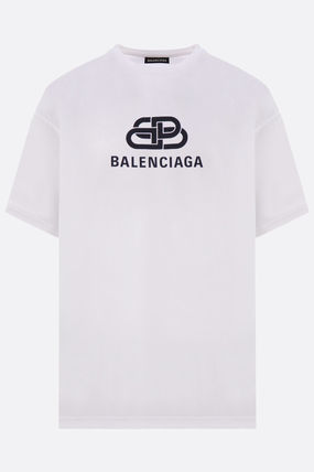 BALENCIAGA Crew Neck Crew Neck Cotton Short Sleeves Crew Neck T-Shirts 3