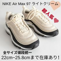 Nike AIR MAX 97 Round Toe Casual Style Street Style Plain Low-Top Sneakers