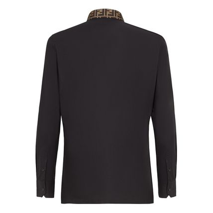 FENDI Shirts Button-down Long Sleeves Plain Cotton Shirts 3