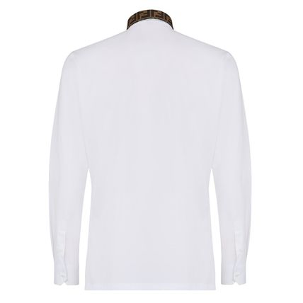 FENDI Shirts Button-down Long Sleeves Plain Cotton Shirts 6