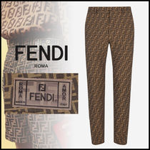 FENDI Slax Pants Monogram Cotton Slacks Pants