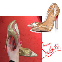 Christian Louboutin Pin Heels Elegant Style Pointed Toe Pumps & Mules