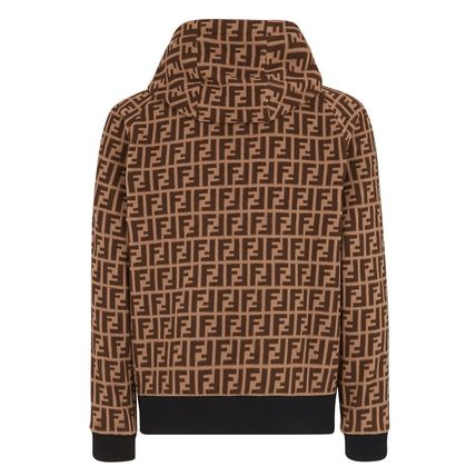 FENDI Hoodies Monogram Street Style Long Sleeves Logos on the Sleeves 3