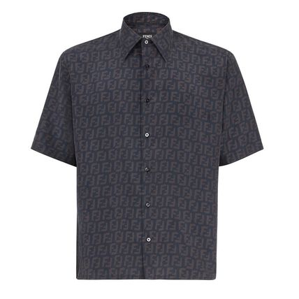 FENDI Shirts Button-down Monogram Cotton Shirts 2