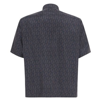 FENDI Shirts Button-down Monogram Cotton Shirts 3
