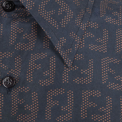 FENDI Shirts Button-down Monogram Cotton Shirts 4