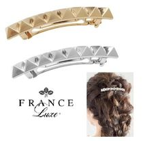 FRANCE Luxe Barettes Casual Style Studded Clips