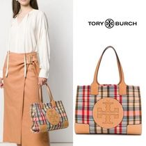 Tory Burch ELLA TOTE Other Check Patterns Nylon Totes