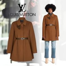 Louis Vuitton Monogram Wool Plain Coats