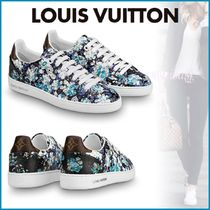 Louis Vuitton Flower Patterns Plain Toe Rubber Sole Lace-up