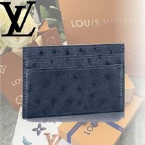 Louis Vuitton Ostrich Leather Card Holders