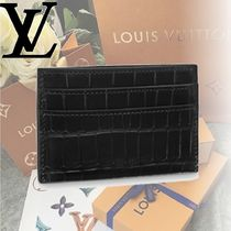 Louis Vuitton Crocodile Card Holders