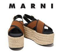 MARNI Platform Bi-color Platform & Wedge Sandals