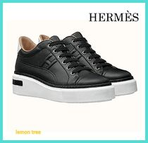 HERMES Casual Style Plain Leather Low-Top Sneakers