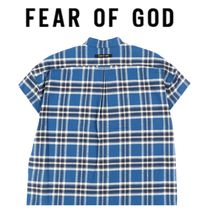 FEAR OF GOD Gingham Sleeveless Street Style Oversized Vests & Gillets