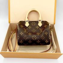 Louis Vuitton SPEEDY Monogram Canvas Blended Fabrics 2WAY Elegant Style