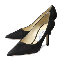 Jimmy Choo Suede Plain Pin Heels Party Style Pointed Toe Pumps & Mules