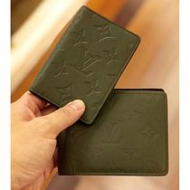 Louis Vuitton MONOGRAM Monogram Blended Fabrics Bi-color Leather Card Holders
