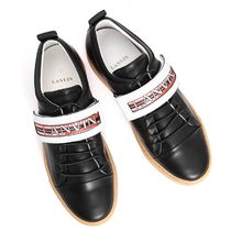 LANVIN Skull Round Toe Casual Style Unisex Leather Low-Top Sneakers