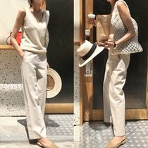 Casual Style Linen Street Style Plain Long Special Edition