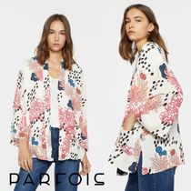 PARFOIS Flower Patterns Casual Style Medium Jackets