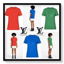 Louis Vuitton Crew Neck Plain Cotton Short Sleeves T-Shirts