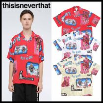 thisisneverthat Casual Style Unisex Street Style Short Sleeves