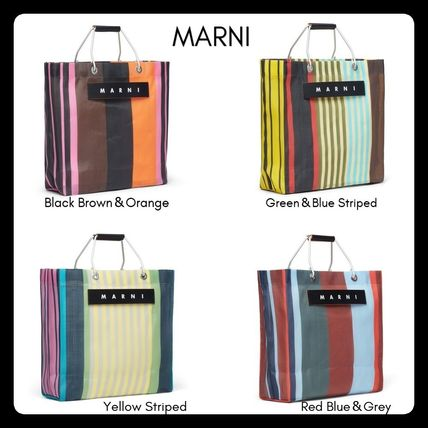 Stripes Casual Style Totes