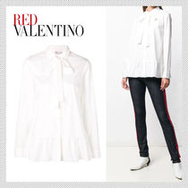 RED VALENTINO Long Sleeves Plain Shirts & Blouses