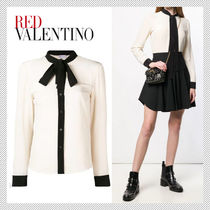 RED VALENTINO Silk Bi-color Long Sleeves Shirts & Blouses