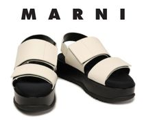 MARNI Bi-color Leather Sandals Sandal